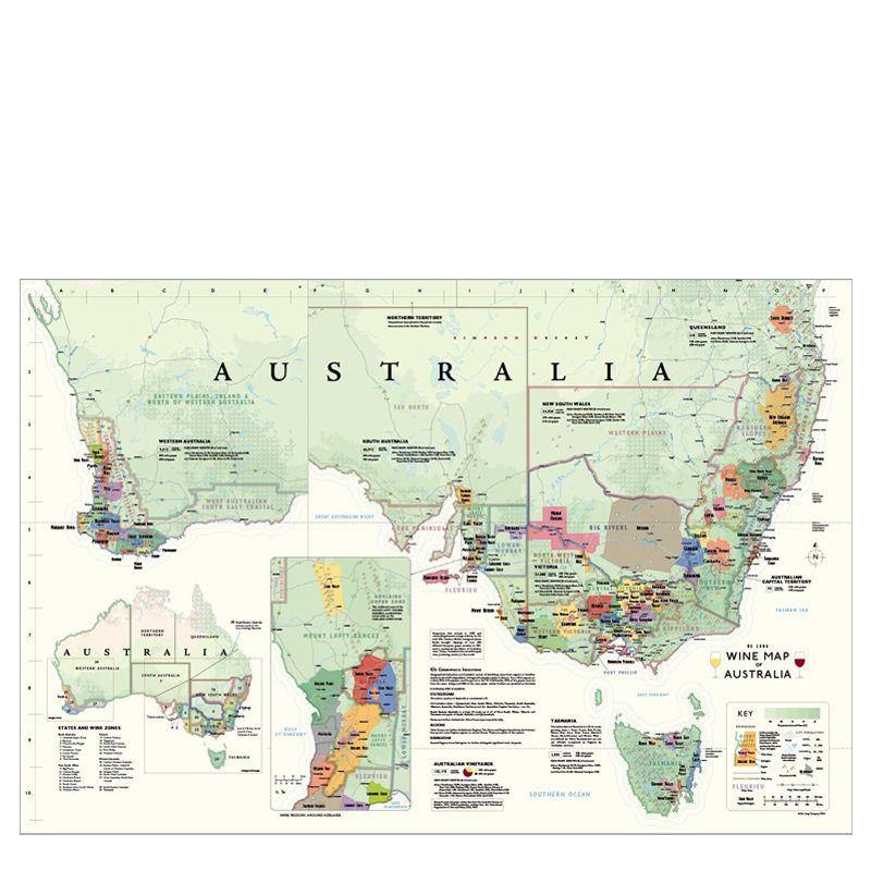 De Long Wine Map of Australia