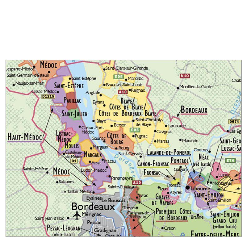 De Long Wine Map of France