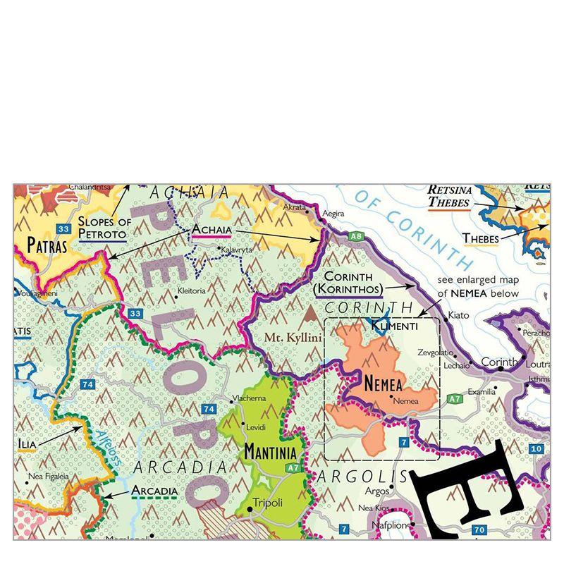 De Long Wine Map of Greece