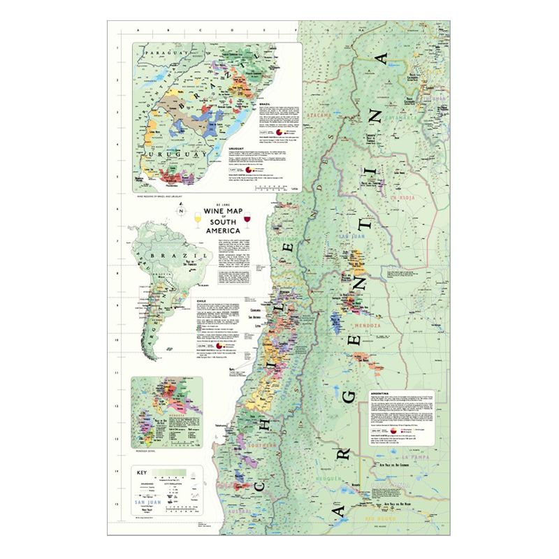 De Long Wine Map of South America