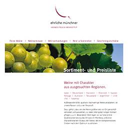 Sortimentliste Weinboutique