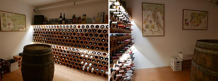 Weinkeller mit De Long Wine Maps